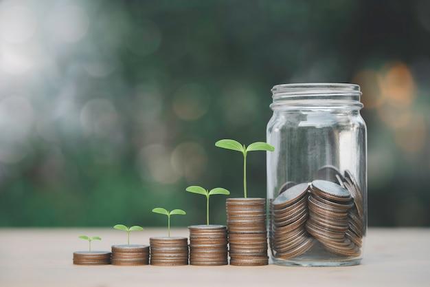 Увеличение количества монет роста, складывающихся с растениями, инвестиционной прибыли и дивидендов от концепции сбережений.