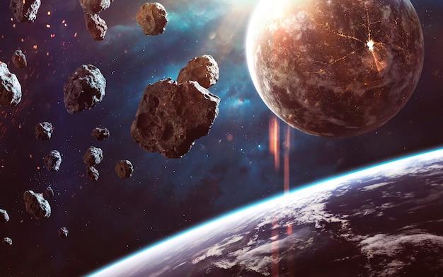 Невероятно красивый и детальный снимок космоса, света звезд и планет. элементы этого изображения, предоставленные наса