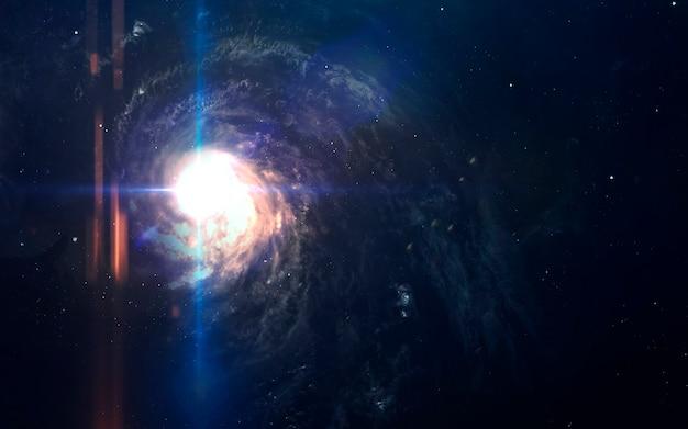 Невероятно красивая галактика в глубоком космосе. черная дыра.