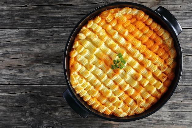 Невероятно вкусный пастуший пирог или пирог с котлетой из баранины в форме для запекания