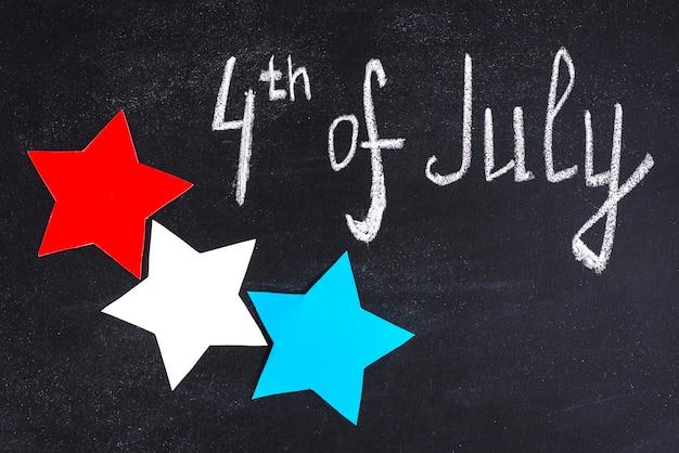 独立記念日チョークの背景