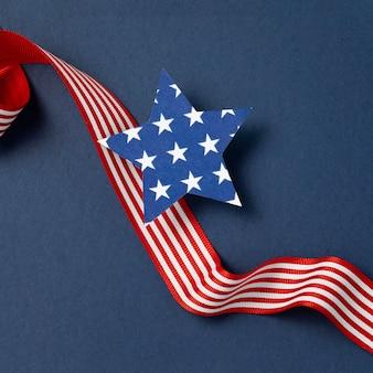 Composizione nel giorno dell'indipendenza con elementi festivi