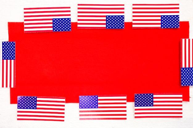 Composizione del giorno dell'indipendenza con il concetto di telaio