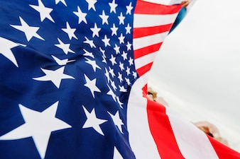 Independence day concept with american flag