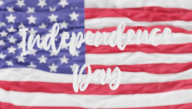 Independence day, united states of america flag background, 3d render