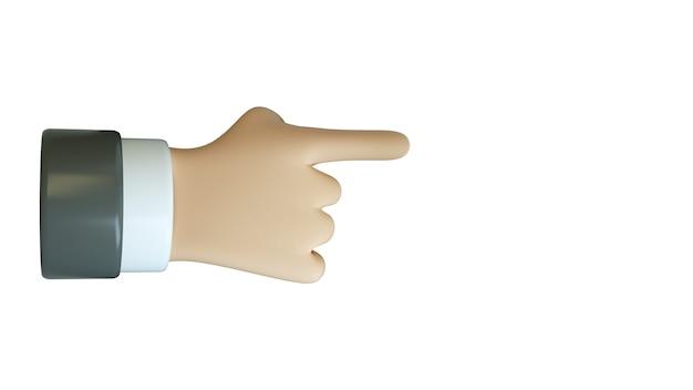 Указательный палец указывая изолированные на белом фоне три d иллюстрации