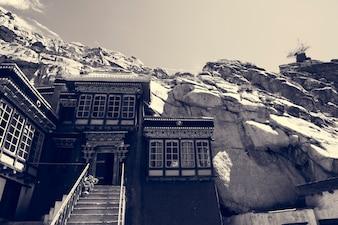 India Rocky Terrain Hill Building