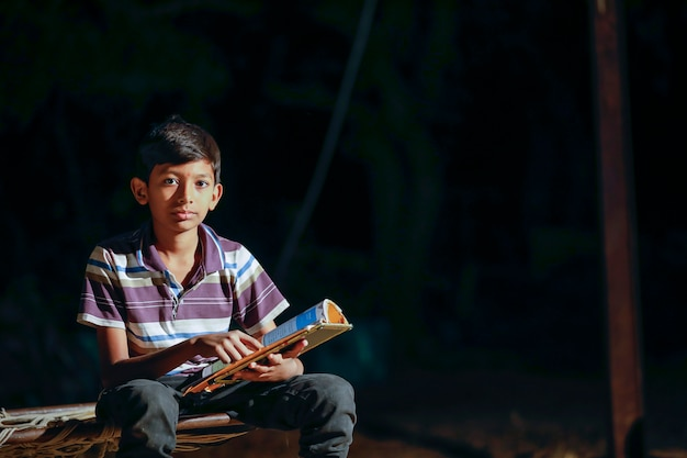 Indian child with slate