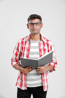 Indian collage boy in study