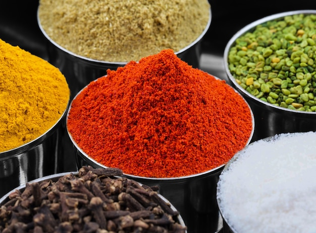 Indian colourful spices