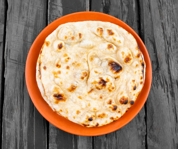 Indian cuisine tandoori roti whole wheat flatbread
