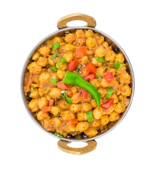 Indian curry of whole chickpeas