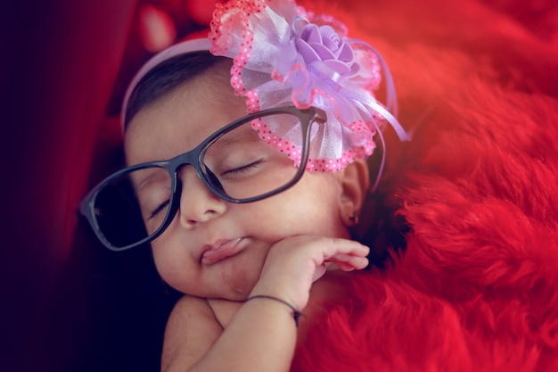 Indian cute girl on spectacles