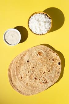 インドのおいしいロティの品揃え
