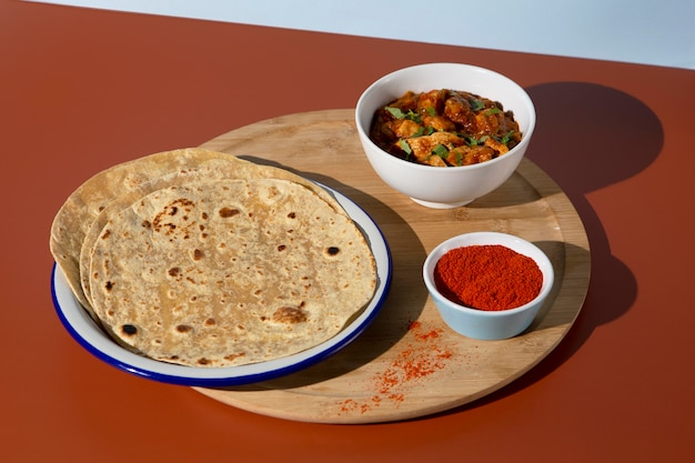 インドのおいしいロティ組成物
