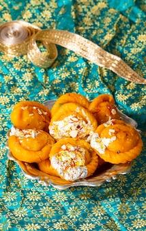 Indian diwali sweet food chandrakala