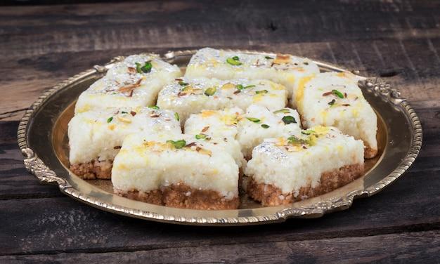 Indian diwali sweet food kalakand