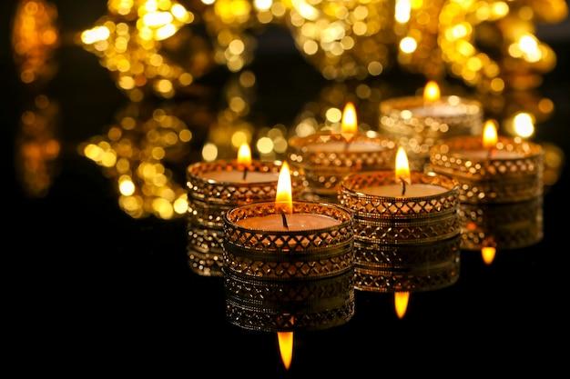 Indian festival diwali , candle