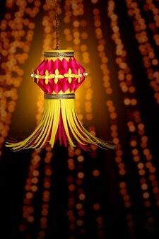 Indian festival diwali , colorful lantern for diwali festival