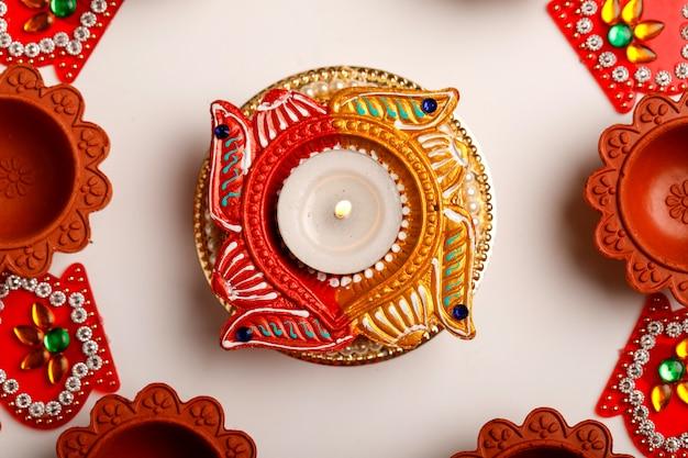 Indian festival diwali , diwali oil lamp