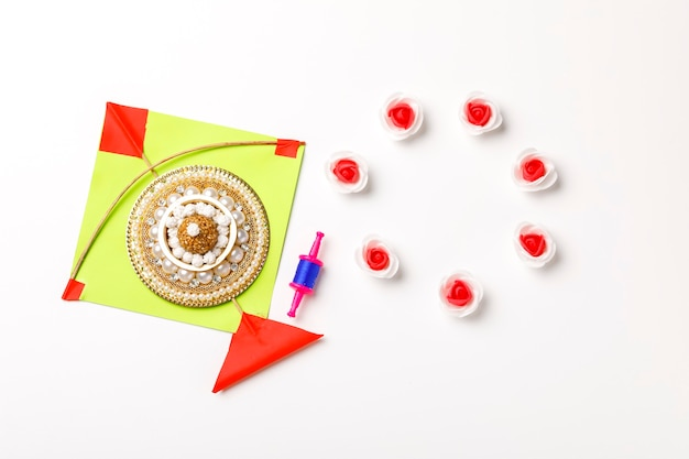 インドのお祭りマカールサンクランティのコンセプト
