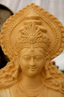 Indian festival navratri , sculpture of goddess durga