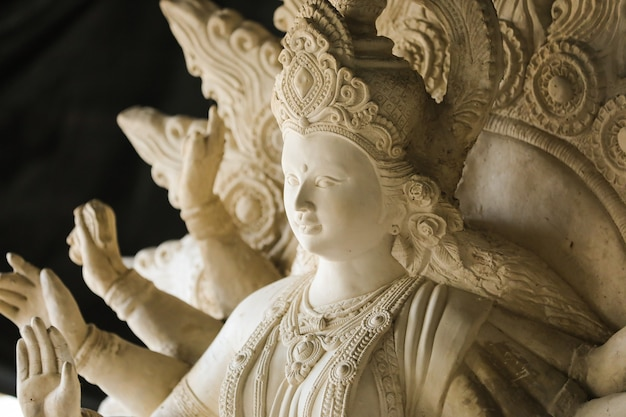 Indian festival navratri , sculpture of goddess durga