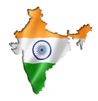 インドの旗の地図