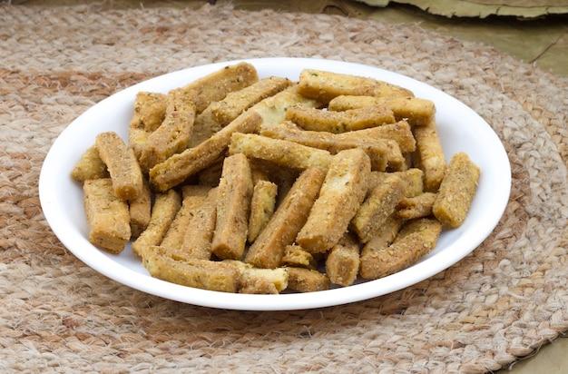 Indian food methi vadi