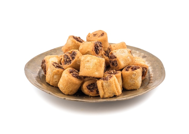 Indian fried bhakarwadi tea time snack