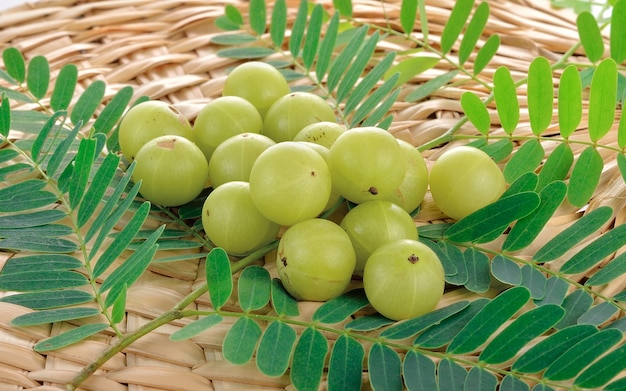 Indian gooseberries on table