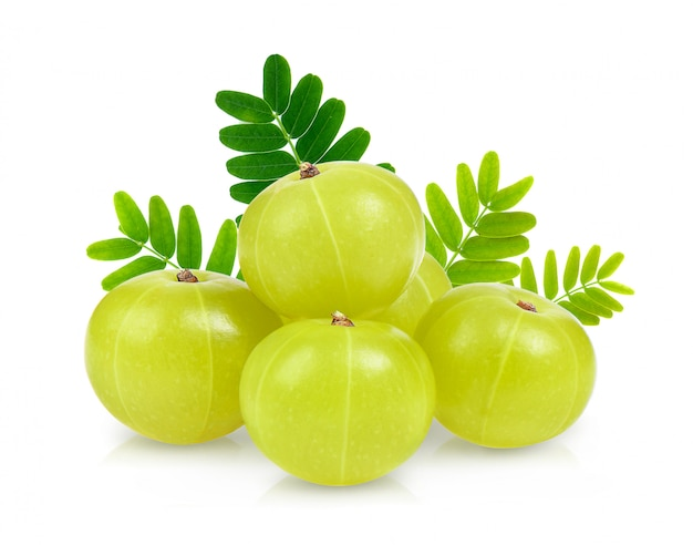 Indian gooseberry isolated on white space