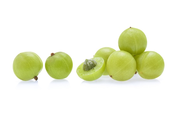 Indian gooseberry isolated on white