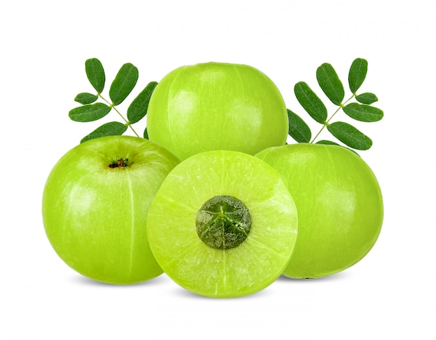 Indian gooseberry isolated with clipping path