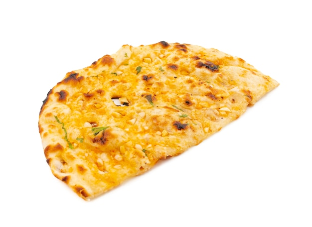 Indian healthy cuisine garlic bread or garlic naan