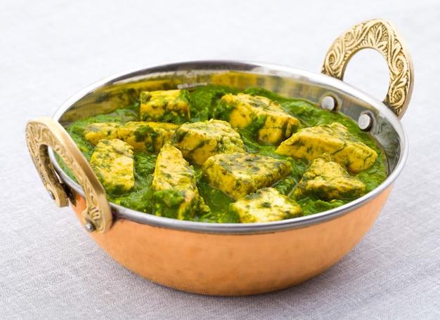 Indian healthy cuisine palak paneer