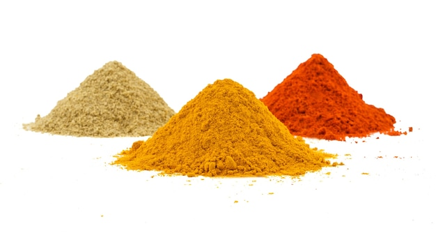 Indian heap of colourful spices