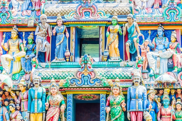 シンガポールのインドのヒンドゥー教寺院