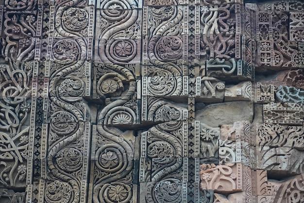 インドの歴史的な古い芸術構造の画像屋外