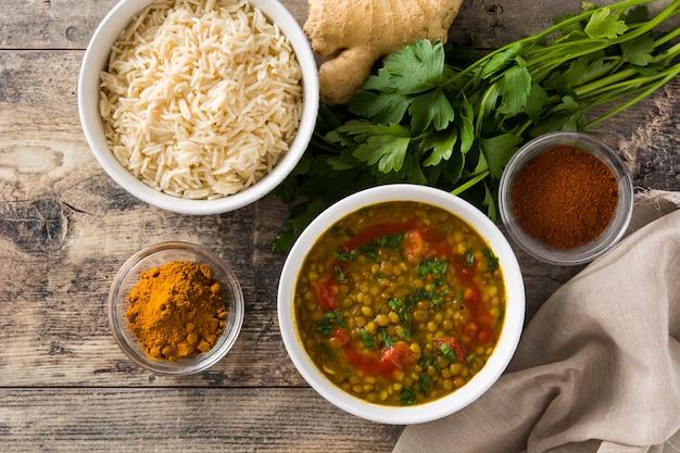 Indian lentil soup dal in a bowl