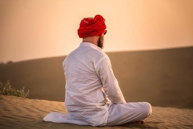 Indian maharaja sunset