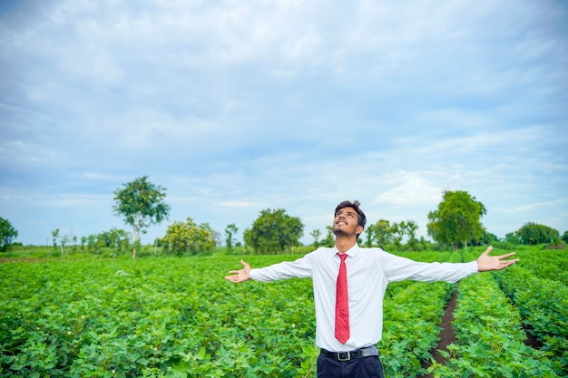 Indian man enjoys in nature