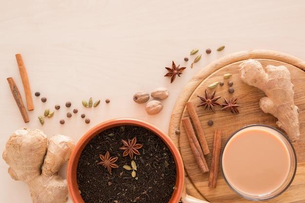 Индийский масала чай с разными специями