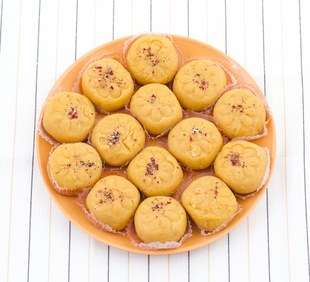 Indian most popular sweet food variety of peda