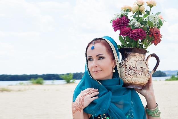 Индийский узор tae handa henna