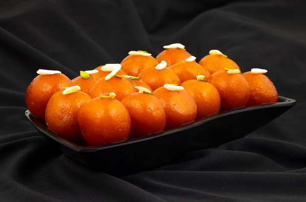 Indian popular dessert gulab jamun