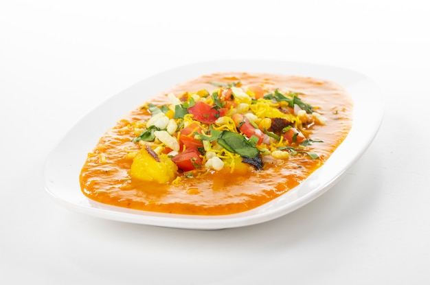 Indian popular street food ragda pattice