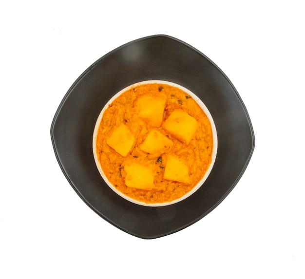 Indian popular vegetarian cuisine cheese butter masala