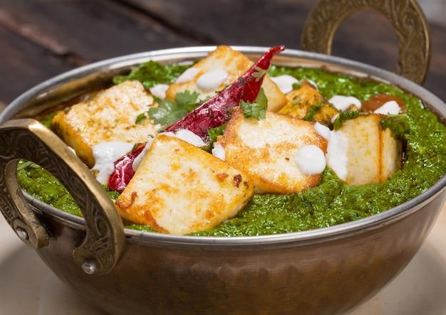 Indian punjabi cuisine palak paneer