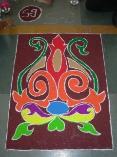 Индийский ранголи дивали, традиционные